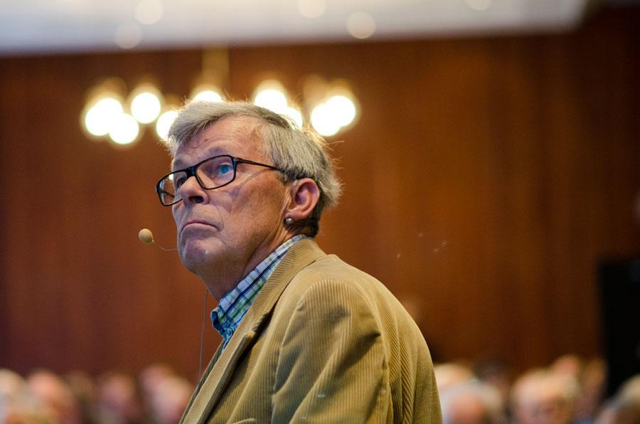 Knut Endresen redegjorde for utviklingen av invasiv kardiologi.