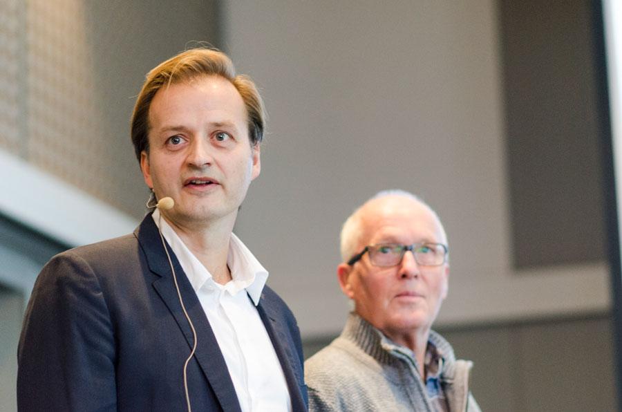Michael Bretthauer engasjerte de fremmøte gjennom sitt foredrag og ved bruk av mentometer.