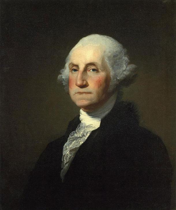 Figur 1. George Washington hadde polycytemi.