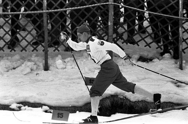 Figur 2. Eero Mäntyranta (1937-2013), finsk langrennsløper. Fire ganger olympisk mester (1960-72), tallrike andre mesterskapsmedaljer. Familiær essensiell erytrocytose med mutasjon i EPO-reseptorgenet og habituell hemoglobin > 20 g/100 ml.
