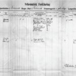 Figur2. Skjema for første melding av en pasient til Det norske lepraregisteret.